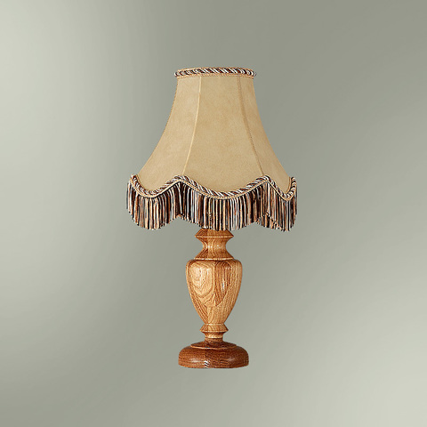 Настольная лампа с абажуром 24-20/7277 Карелия