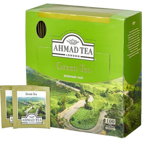 Чай Ahmad Green Tea зеленый 100 пакетиков