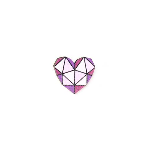 Пин Сердце геометрическое
