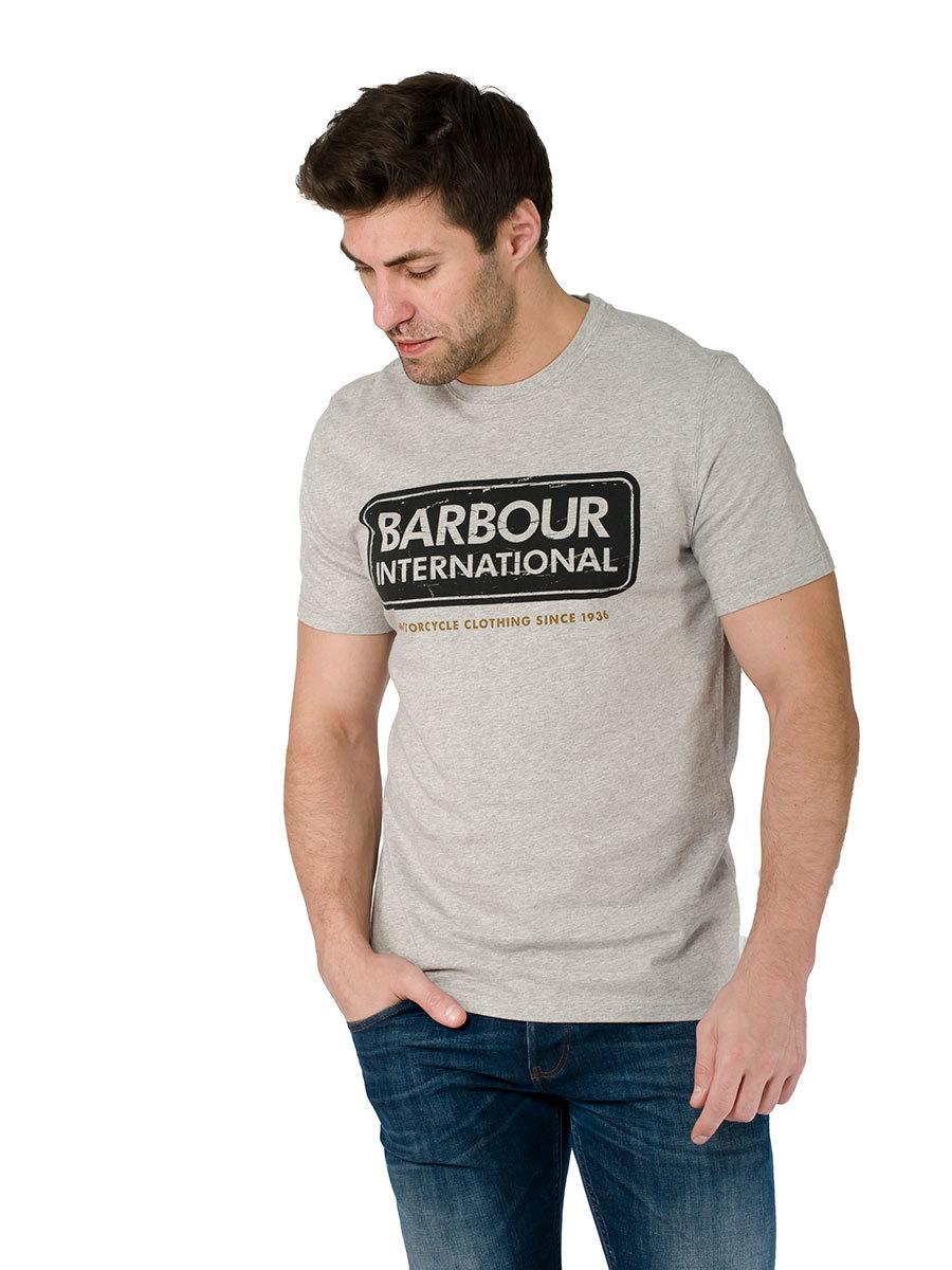 Barbour футболка  International Logo Grey