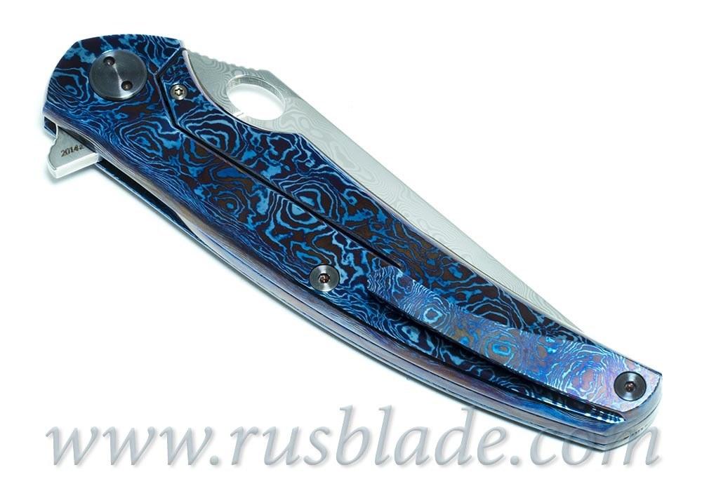 Cheburkov Custom Raven Damascus Timascus - фотография