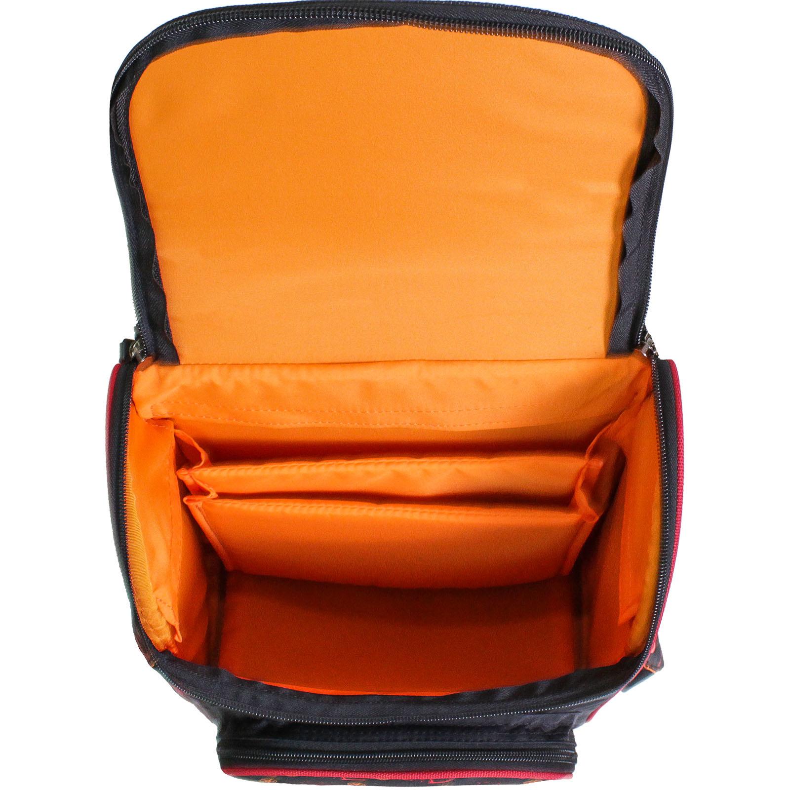 Рюкзак школьный каркасный с фонариками Bagland Успех 12 л. черный 417 (00551703)
