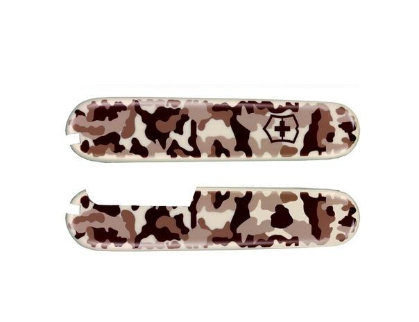 Набор накладок для ножа Victorinox 91 мм., цвет - песочный камуфляж (desert camouflage)