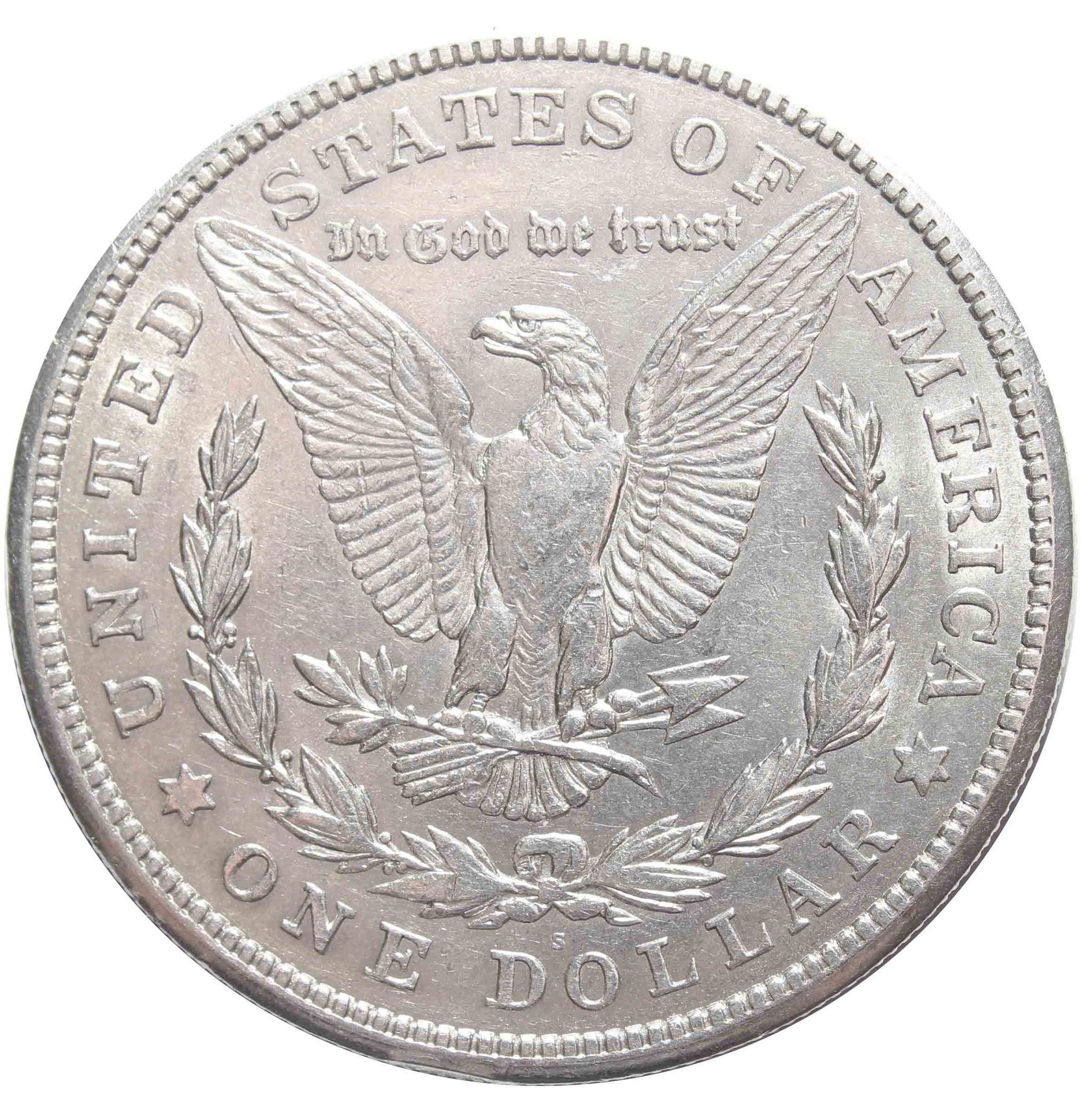 1 доллар 1921. (S) США XF-AU (Морган)