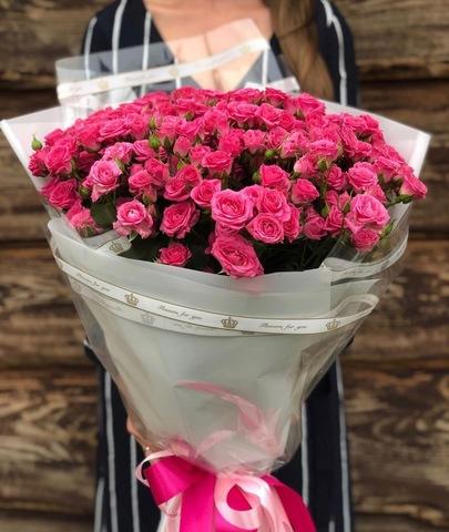 Букет из 19 кустовых роз 70-80 см #18461