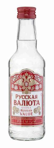 Водка Русская Валюта 38% 0,25 л