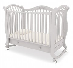 Кровать детская Габриэлла люкс на колесиках с ящиком белая ночь