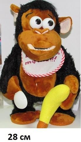 Обезьяна 1290081 муз. с бананом и ложкой (Св)