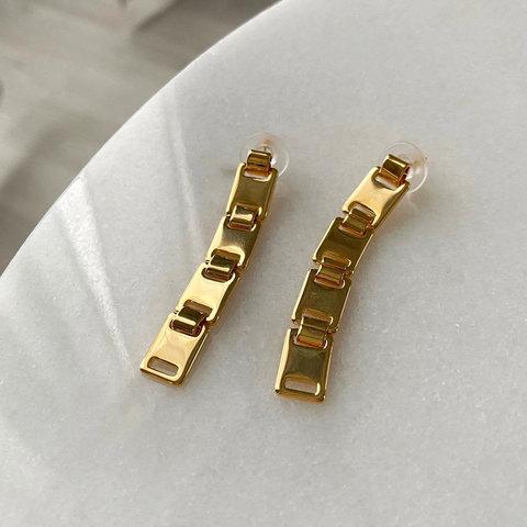 Серьги-цепи (золотистый)