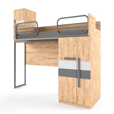 Кровать верхняя правая без лесенки  Твист Лофт 38 попугаев