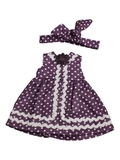 Платье летнее - Лиловый. Одежда для кукол, пупсов и мягких игрушек.