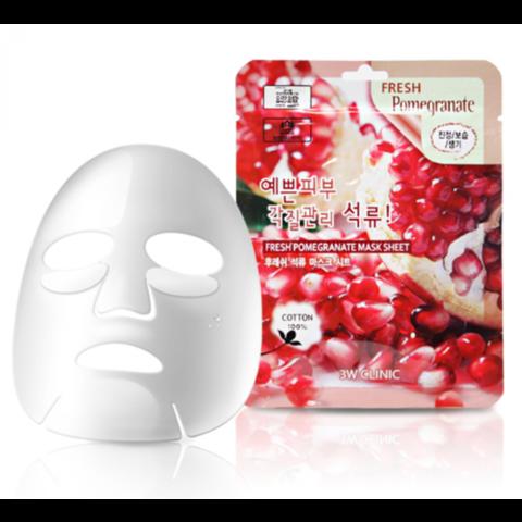 Тканевая маска с гранатом 3W Clinic Fresh Pomegranate Mask Sheet