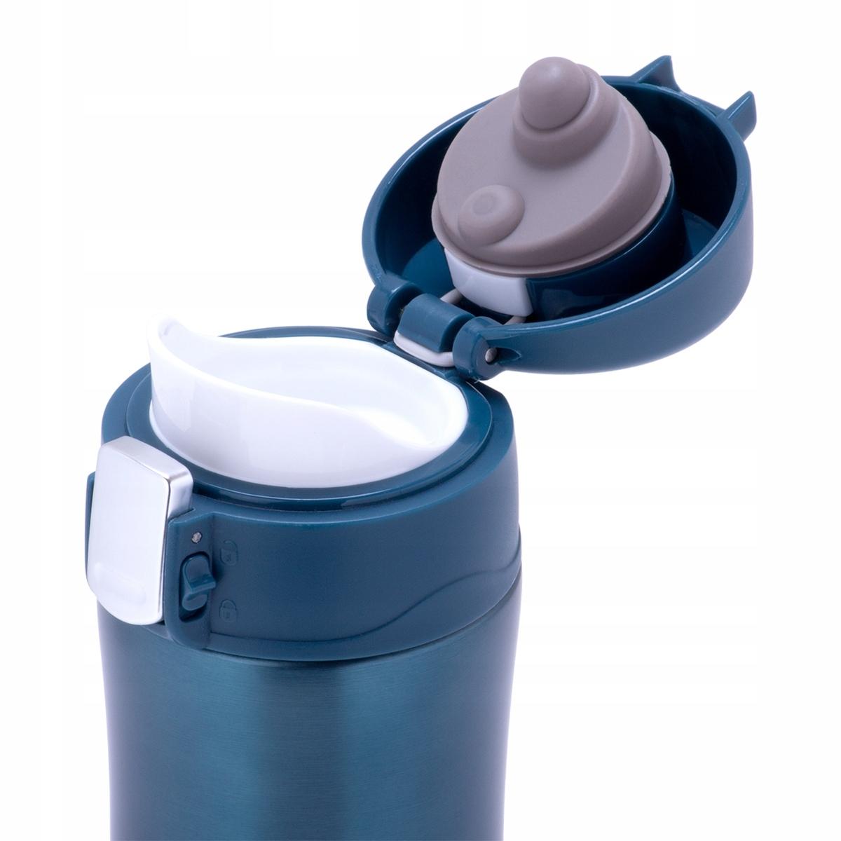 Термос-кружка Kamille 450 мл. из нержавеющей стали, голубой