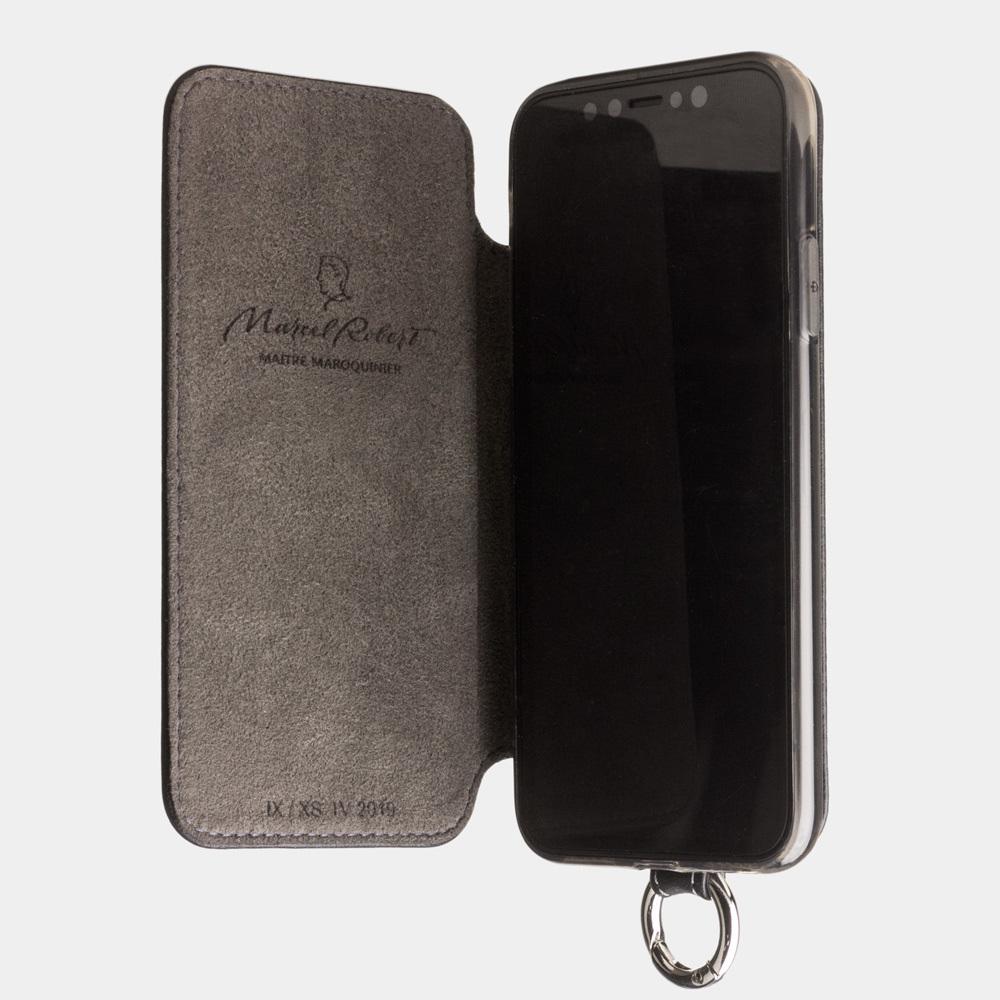Чехол Marcel для iPhone X/XS из натуральной кожи теленка, черного цвета