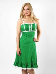 1440-4 платье женское зеленое