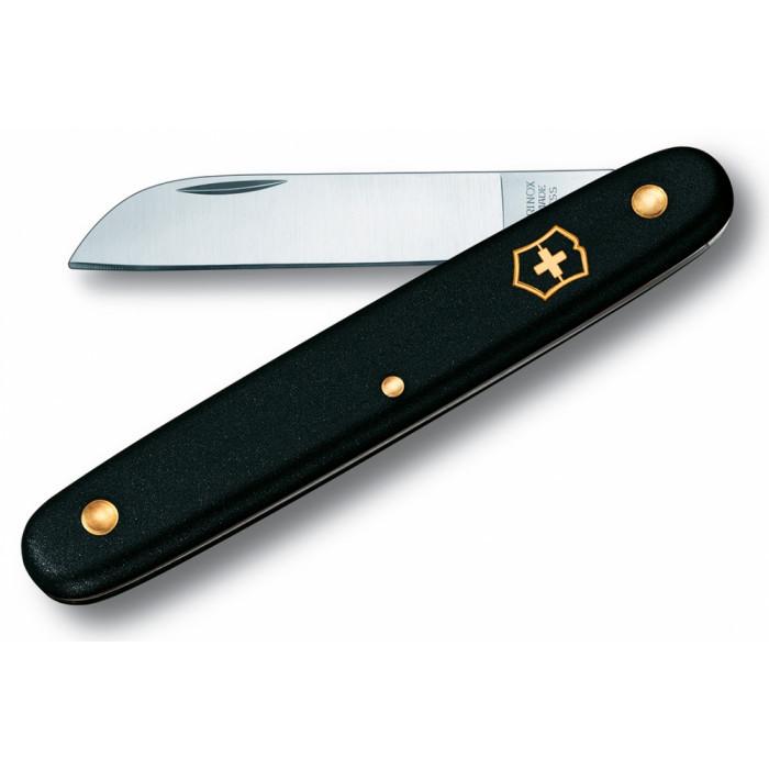 Нож складной садовый Victorinox 3.9050.3 Floral, чёрный