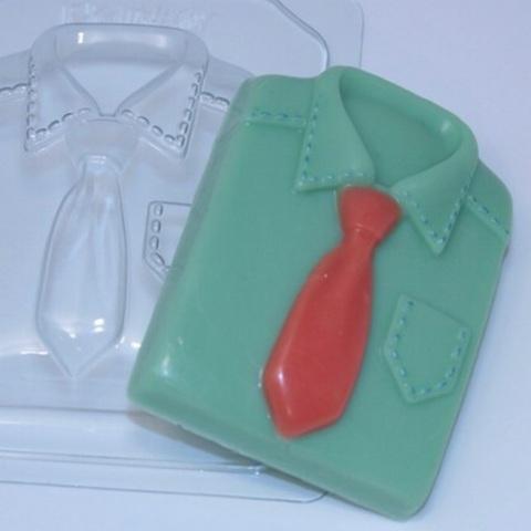 Пластиковая форма для шоколада муж. РУБАШКА (90х65мм)