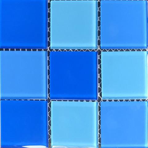 Мозаика стеклянная Aquaviva Cristall Light Blue (48 мм) / 20865