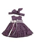 Платье летнее - Лиловый 1. Одежда для кукол, пупсов и мягких игрушек.