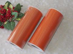 Фатин в рулончиках оранжевый