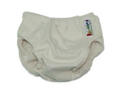 Непромокаемые трусики на кнопках Babyidea MobileHour, S/M 6-12 кг, Белый (внешний слой: трёхслойная полиуретановая мембрана, внутренний слой: полиэстер 100% (флис))