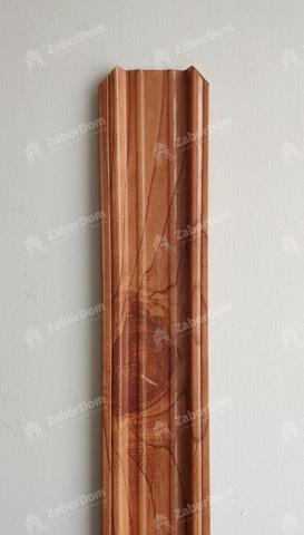 Евроштакетник металлический 85 мм Золотое дерево П - образный двусторонний 0.5 мм