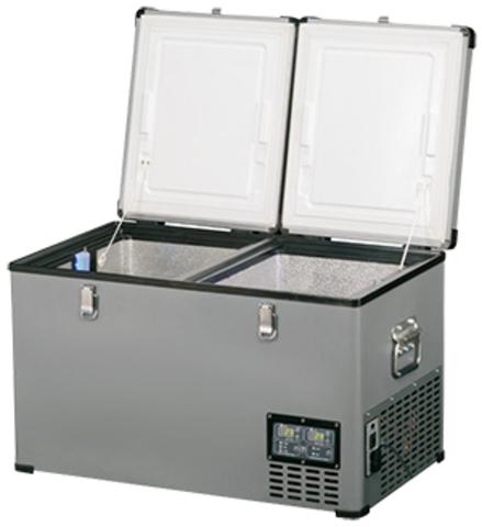 Компрессорный автохолодильник Indel-B TB65DD Steel (Двухкамерный, 12V/24V/220V, 65л)