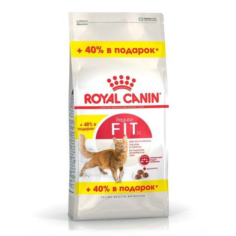 ПРОМО! Royal Canin Fit 32 сухой корм для взрослых кошек 400+160 г