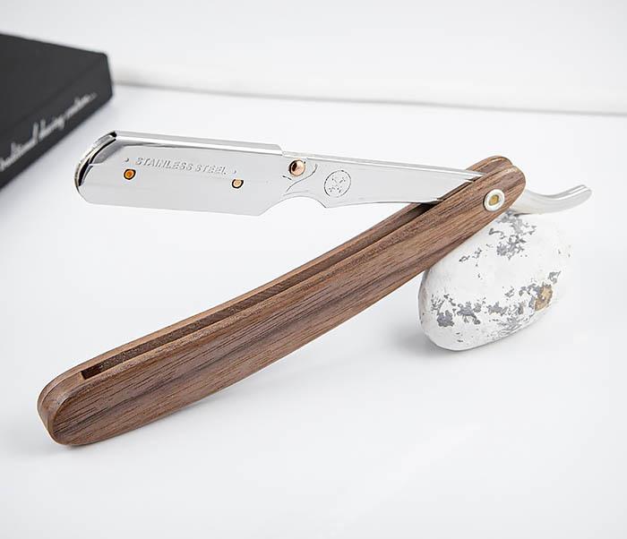 RAZ512 Шаветт «PARKER» SRDW для сменных лезвий с деревянной рукояткой фото 04