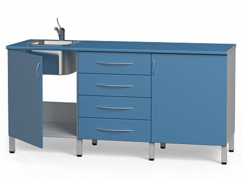 Комплект медицинской мебели БТ-04+БТ-02/4+БТ-05- 180 - фото