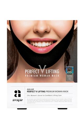 Женская лифтинговая маска (черная) Perfect V lifting premium woman black mask, AVAJAR