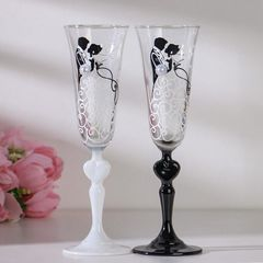 Набор свадебных бокалов «Влюблённые», с сердцем на ножке, 210 мл, фото 3