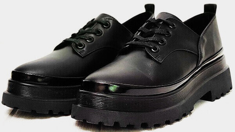 Женские туфли на тракторной подошве Marani magli M-237-06-18 Black.