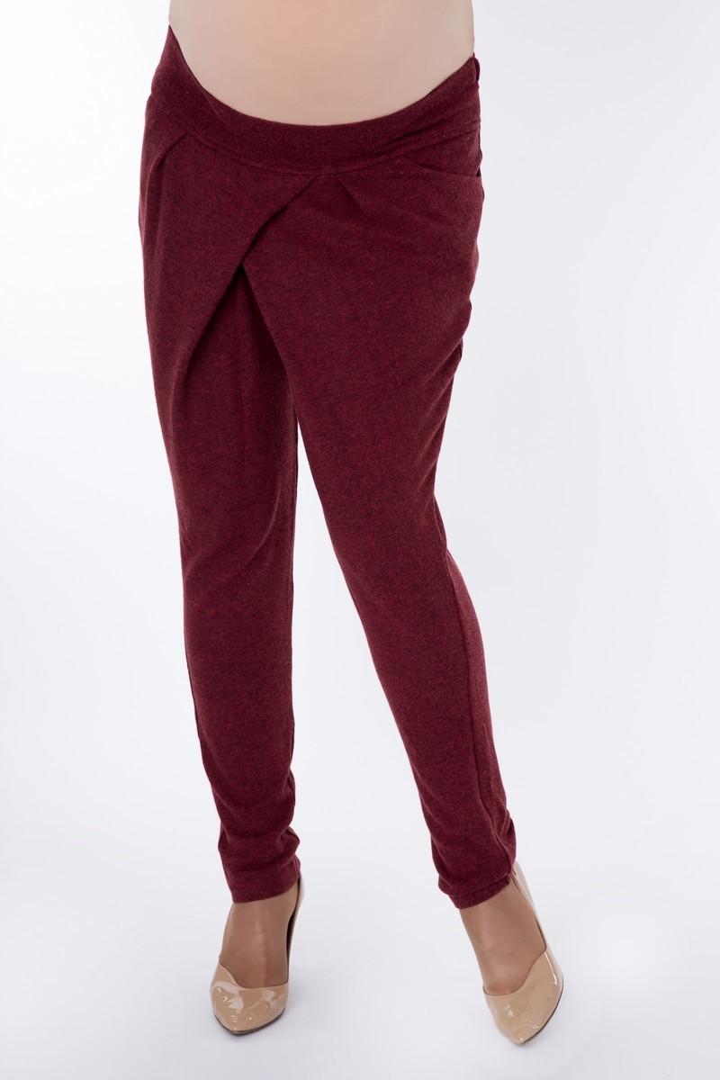 Спортивные брюки для беременных 08261 бордовый