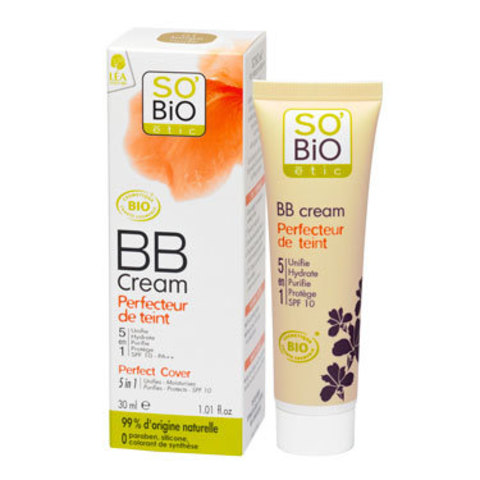 BB крем тон 01 телесный бежевый SO'Bio etic, 30 мл (срок годности до 02.2022)