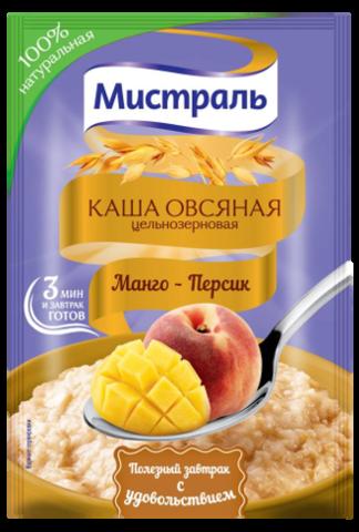 """Каша """"Мистраль"""" Овсяная Манго-Персик 40г"""