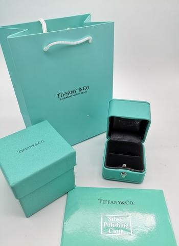 666200 - Подарочная упаковка (комплект) для кольца/гвоздиков TIFFANY lux (серая)