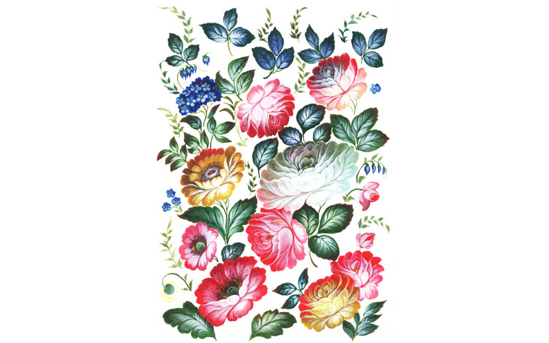 Рисовая бумага для декупажа Летние цветы, А3