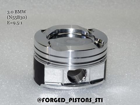 Поршни СТИ BMW 3,0l N55B30 (CR=9,5) кольца 1,5/1,5/2,0