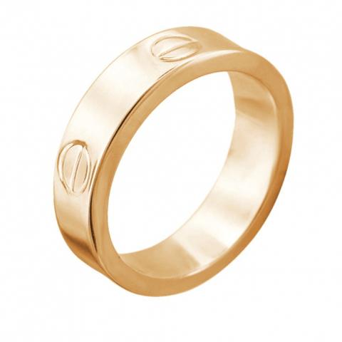 01К0112114Р - Кольцо из золота 585 пробы в стиле Картье