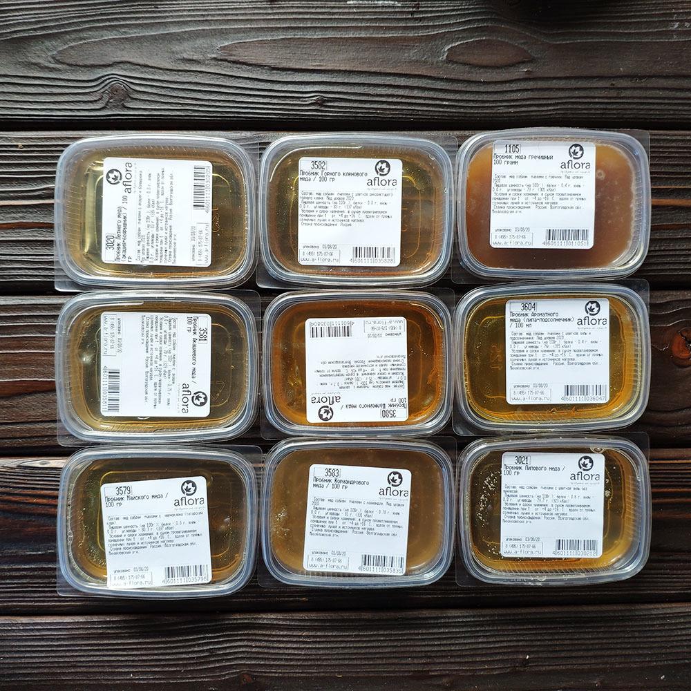 Фотография Пробник Акациевого меда / 100 мл купить в магазине Афлора