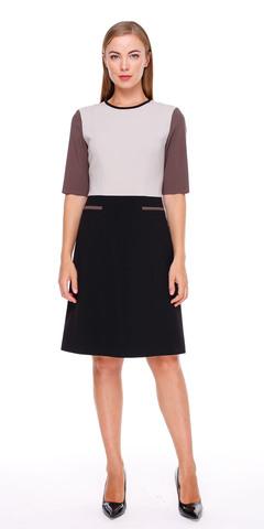 Фото летнее офисное платье-футляр с расклешенной юбкой - Платье З157-579 (1)