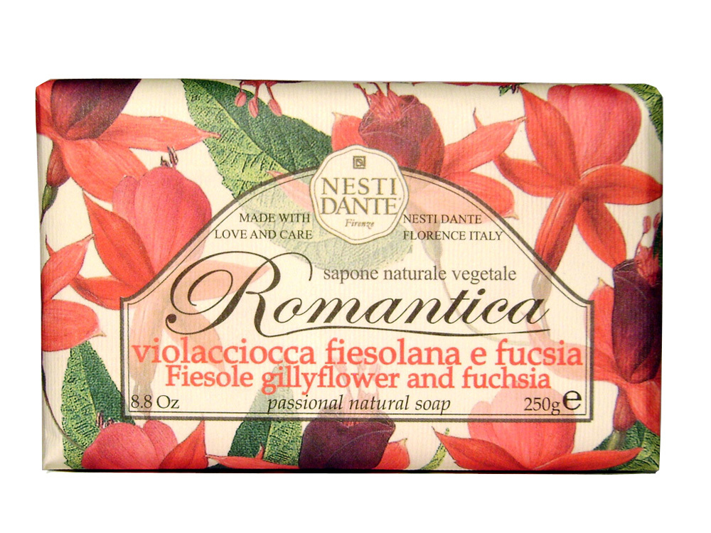 ROMANTICA Fiesole Gillyflower & Fuchsia / Ароматы фиезоле и фуксия мыло 250 гр