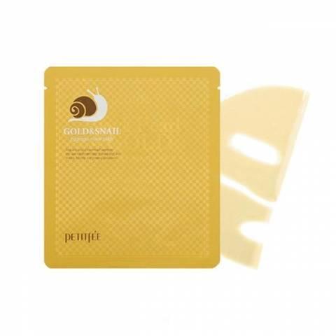 Гидрогелевая маска Petitfee Gold & Snail Hydrogel Mask Pack с золотом и экстрактом слизи улитки 30 мл
