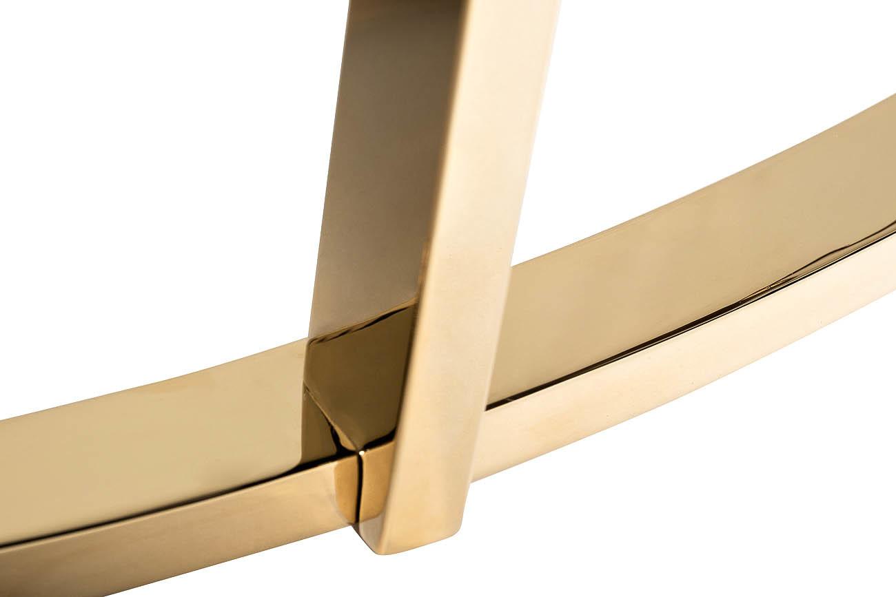 Консоль искусственный коричневый мрамор/золото (33FS-CST20С05-PG) Garda Decor
