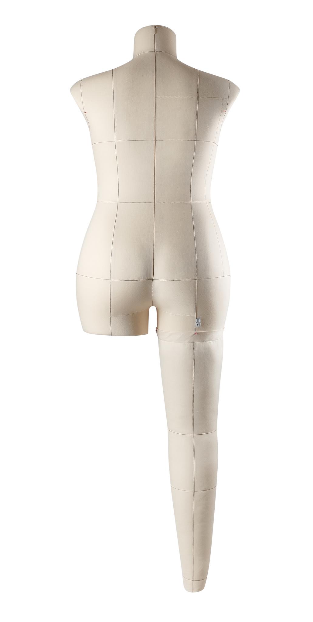 Нога бежевая для манекена Моника, 52 размер