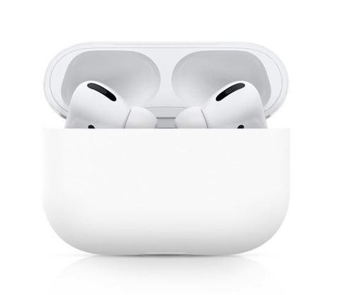 Силиконовый чехол для Airpods Pro белый