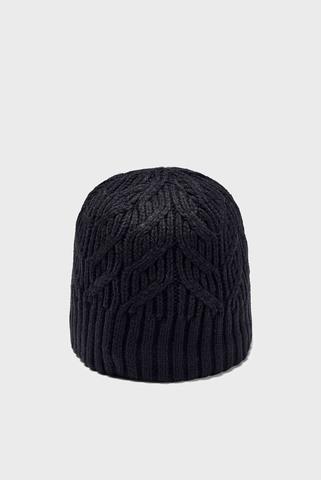 Женская черная шапка UA Around Town Beanie Under Armour