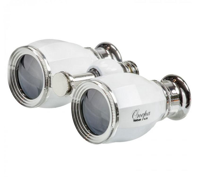 Бинокль Veber БГЦ 4x30 А02 белый/серебро с фокусировкой - фото 1