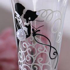 Набор свадебных бокалов «Влюблённые», с сердцем на ножке, 210 мл, фото 4